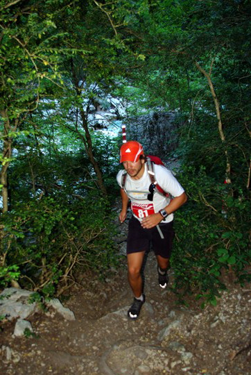 Trail du Verdon 2012, canyon climbing