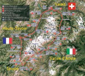 Around Mt Blanc through three countries