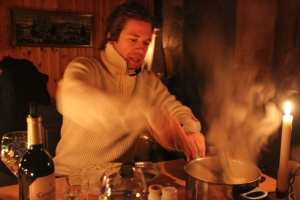 What would a cabin dinner be without steaming pasta?