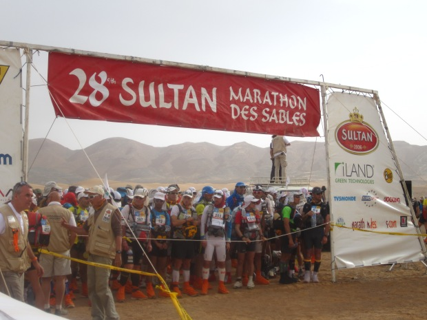 The starting line at Stage 1