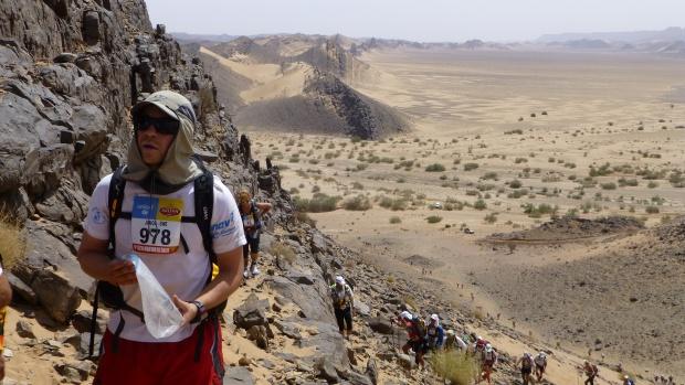 Climbing up Joua Baba Ali Jebel.