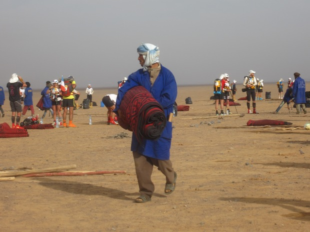 The berbers pulled down our tents very efficiently every morning.