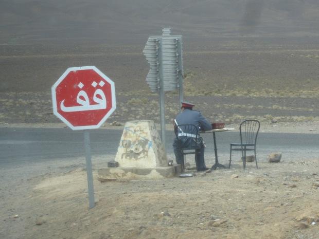 Moroccan road control.