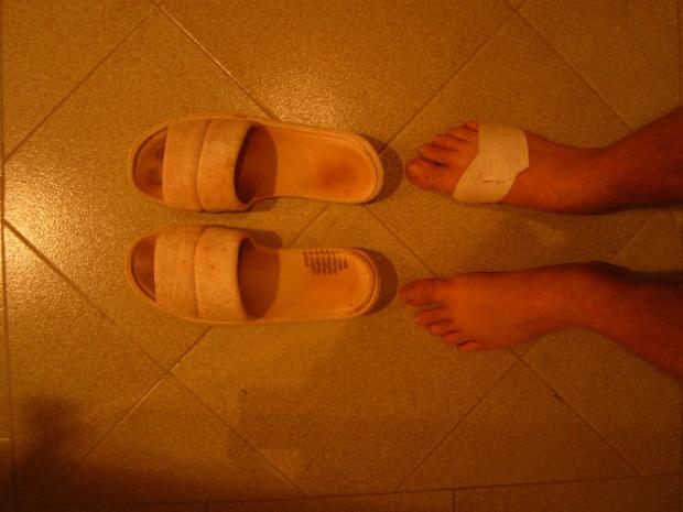 Good-bye dirty slippers.