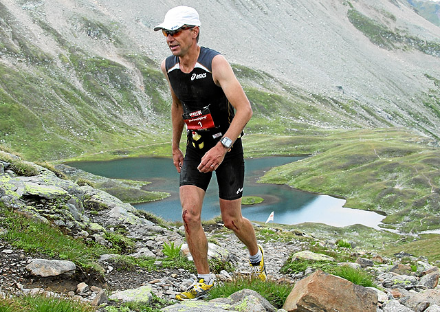 Jonas Buud winning his 5th Swiss Alpine in 2011.