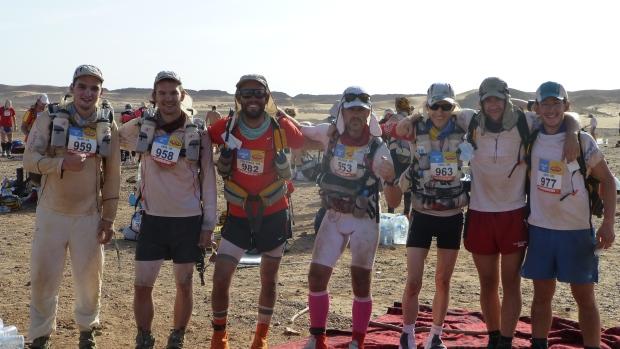 Last stage from left to right: Maunu, Illka, Marcus, Johan, Jakob and Jakob.