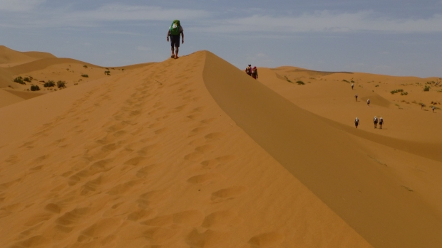 The last portion of sand dunes before CP 3.