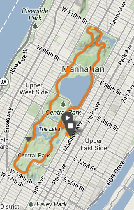 A standard lap of Central Park.