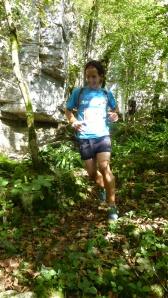 A lovely descent in Forêt domainale du Flavigny