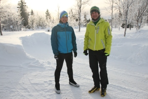 Cross country skiing in February.