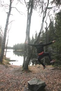 Forest strolling in Nordmarka in October.
