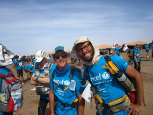 Me and Markus during the charity leg for UNICEF last year.
