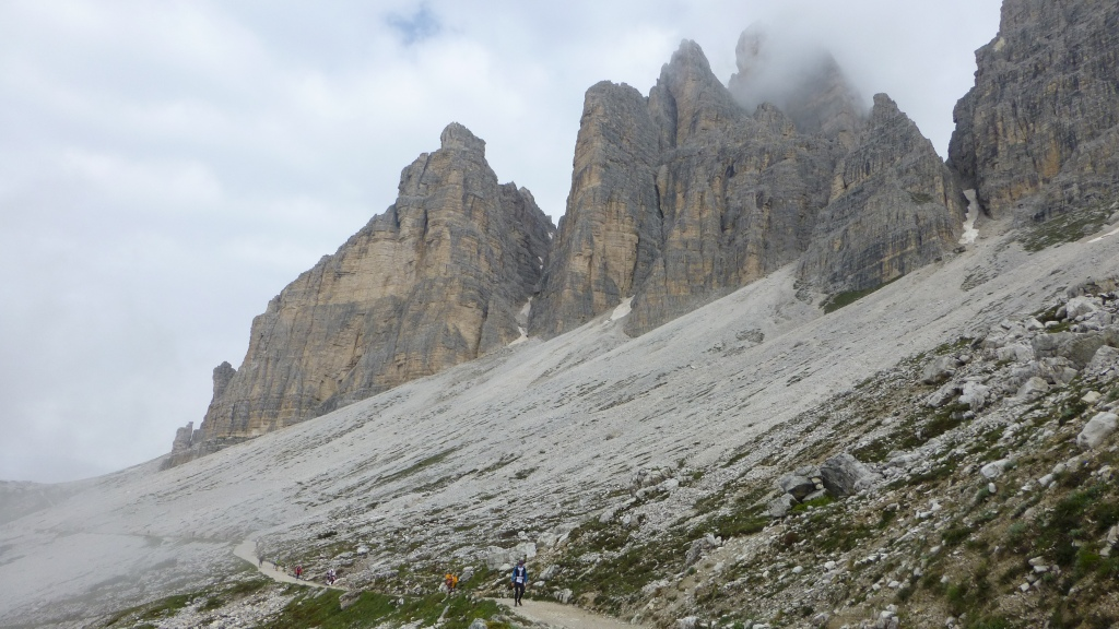 Earlier in the day, the Tre Cime di Lavaredo.