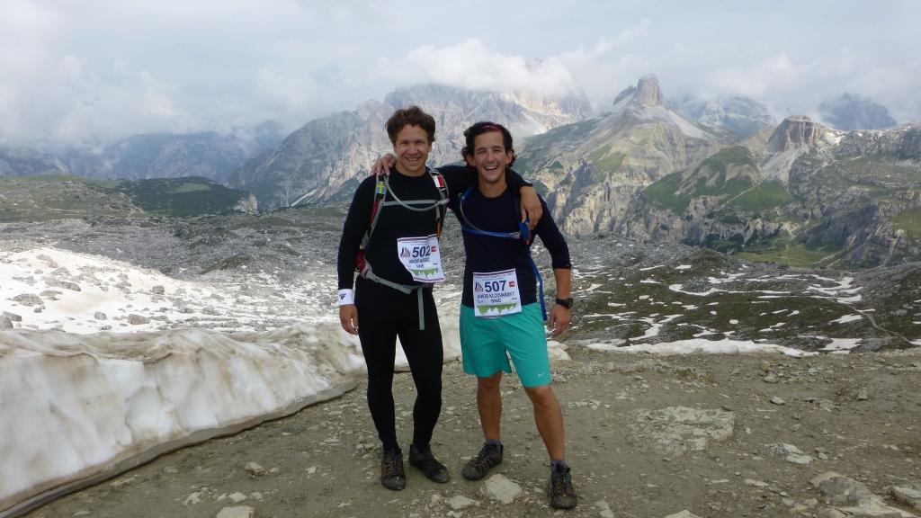 Standing by Tre Cime di Lavaredo (2 450 m).