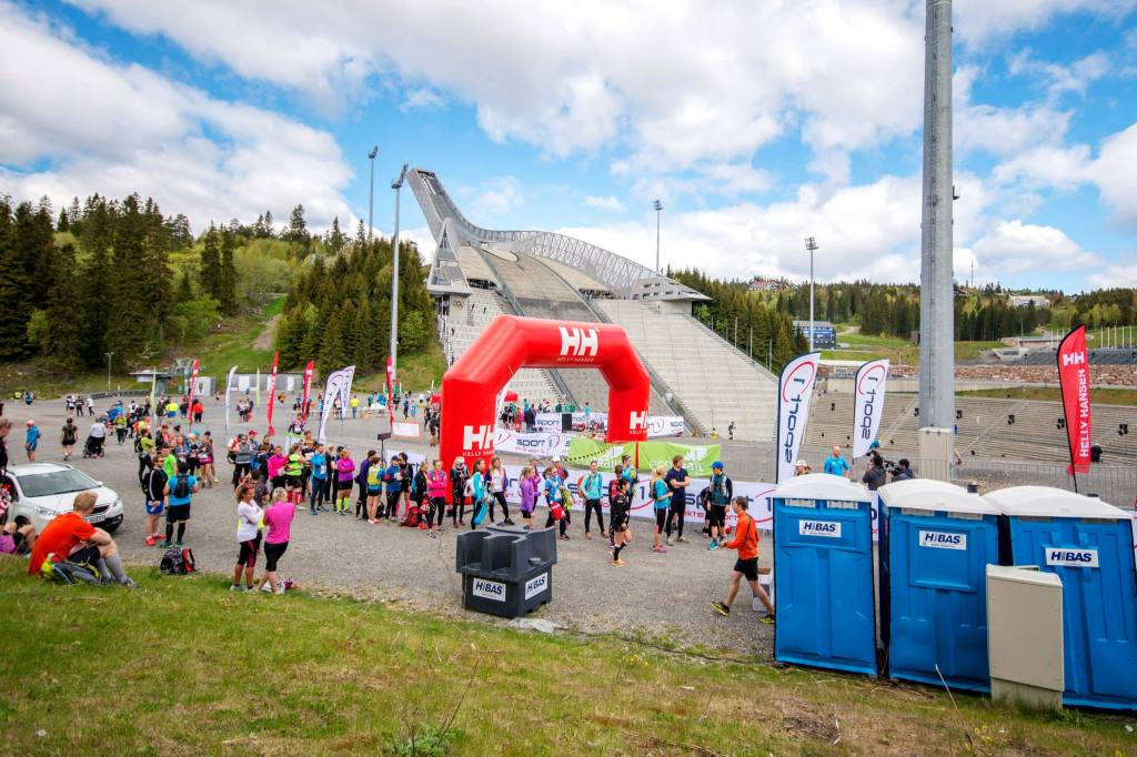 Checkpoint 2 at Holmenkollen (35 km). Photo by K O Melaug.