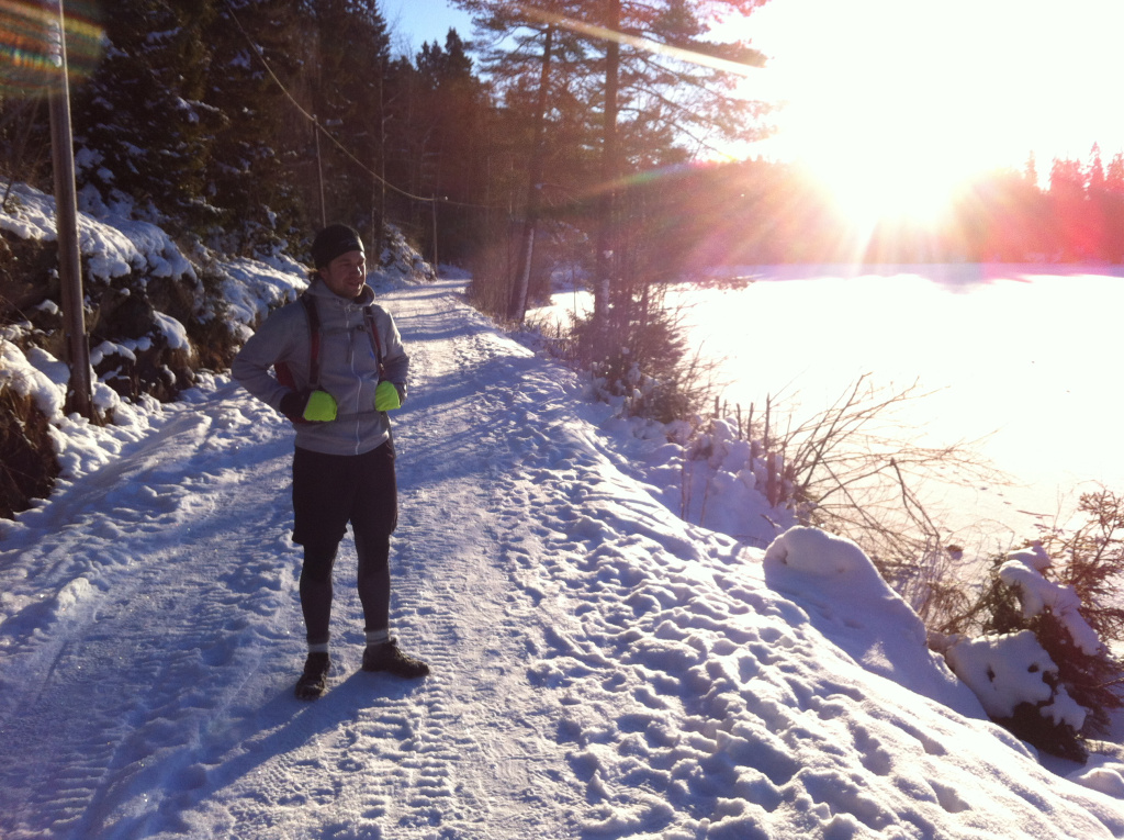Winter running in Oslo.