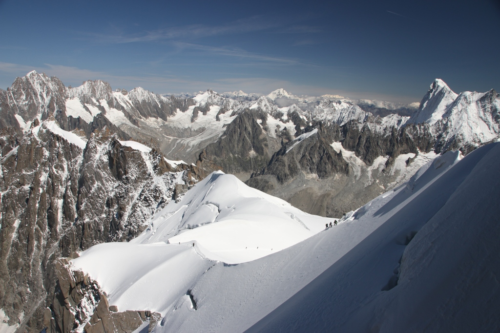 The view from Aiuguille du Midi