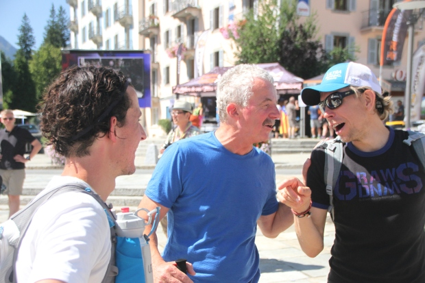 With dad and Sondre at the finish.